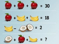 Fruit Math Tease #PEMDAS