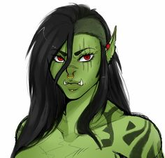 Half orc female tumblr d&d dungeons and dragons