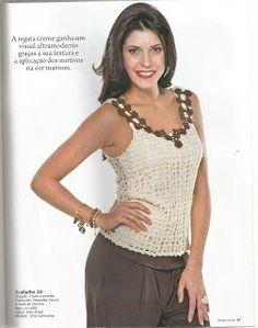 Mania-de-Tricotar: Regata em crochê. http://mania-de-tricotar.blogspot.com.br/