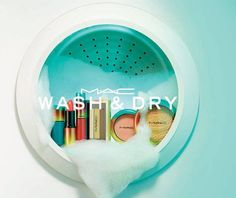 MAC's new Wash & Dry colour collection for Summer takes inspiration from the launderette with a sudsy campaign combined with a retro colour palette. Launching May.
