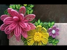 DIY Craft Ideas-How to make Beautiful Quilling Pink Flower New design -Paper Art Quilling - YouTube