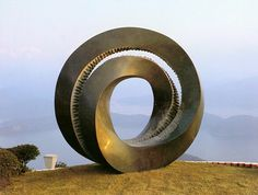 Sculptures of infinity, inspired by the Möbius strip. Arts and mathematics -- many examples