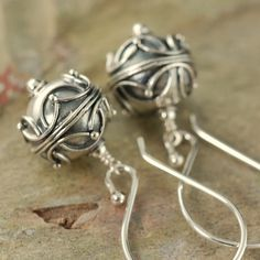Sterling silver Bali dangle earrings at http://southpawonline.com/products/sterling-silver-bali-dangle-earrings