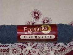 Vintage Yarn Fleishers Silhouette Knitting Fingering