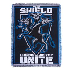 """The Shield """"Hounds of Justice United"""" Tapestry Blanket"""