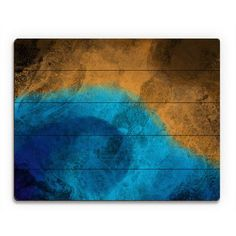 Click Wall Art 'Fire and Ice' Graphic Art on Plaque Size: