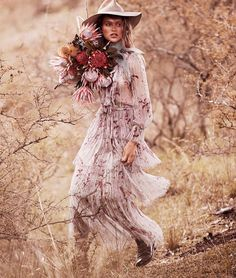 Chloe Lecareux channels her inner country girl for a new Grazia Australia editorial. Called 'The Station Master's Daughter', the story features luxe fashions for the girl who isn't afraid of the outdoors. Photographed by Steven Chee and styled by Charlotte Stokes, the French model wears a mix of lace, pleating and ruffles. Chloe looks super …