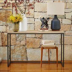 Box Frame Console Table - Wood/Antique Bronze #westelm