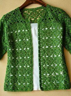 Cardigan crochet vert Kingdom Crochet Kingdom - Cardigan crochet vert Kingdom Crochet Kingdom Vous êtes à la bonne adresse pour diy crafts Nous re - Gilet Crochet, Crochet Cardigan Pattern, Crochet Jacket, Crochet Blouse, Crochet Shawl, Crochet Stitches, Knit Crochet, Crochet Patterns, Lace Cardigan
