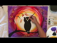 How to Paint an Owl - Step By Step Acrylic Painting Tutorial