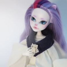 Monster High OOAK Catrine De Mew Faceup by Beautidolls on Etsy