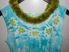 RTS Hand Painted Kaua'i Cotton A Line Play Dress by PetrinaBlakely, $50.00