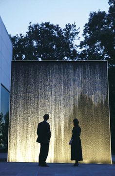 fountain wall Great use of lighting. Could work with shadows during transitions.