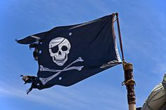 Pirate Art - Pirate flag skull and cross bones  by Garry Gay