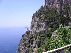 Nauseating roads on the Amalfi coast, Italy (2006)