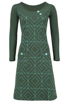 Dress Twiggy Grafisch Green