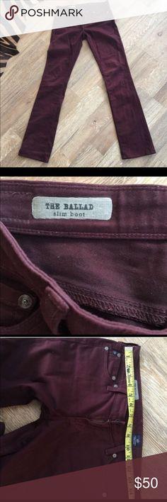 Adriano Goldschmied Like new burgundy Adriano Goldschmied size 28 AG Adriano Goldschmied Jeans Straight Leg