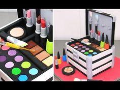 MakeUp Cosmetics Box Cake  *Torta Caja De Maquillaje by Cakes StepbyStep – video
