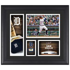 "Ian Kinsler Detroit Tigers Fanatics Authentic Framed 15"" x 17"" Player Collage with a Piece of Game-Used Ball"