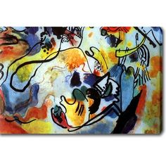 Wassily Kandinsky 'The last judgment y' Oil on Canvas Art