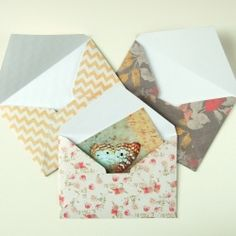 Great technique for making your own envelopes!  Super easy and you just need paper :)
