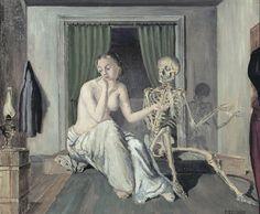 Paul Delvaux - conversation - 1944