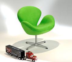 Desenhada em 1958, a poltrona Swan (O Cisne) foi um marco no desenho mobiliário. Do mesmo criardor da poltrona Egg, Arne Jacobsen, também ganha sua versão infantil.
