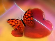 Heart, Love, Luck, Abstract, Butterfly