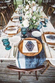 Boho tablescape | Wedding & Party Ideas | 100 Layer Cake