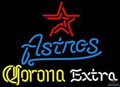 Corona Extra Houston Astros Neon Sign MLB Teams Neon Light
