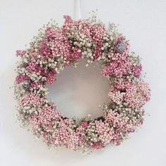 *クリスマス*ライスフラワーの小花のリース|フラワー・リース|Breath Wreath|ハンドメイド通販・販売のCreema