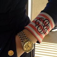 Find images and videos about preppy, rolex and monogram on We Heart It - the app to get lost in what you love. Preppy Girl, Preppy Style, Style Me, Embroidery Applique, Embroidery Ideas, Applique Ideas, Embroidery Monogram, Machine Embroidery, Vogue