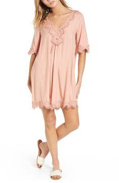 Hinge Lace Trim Shift Dress | Nordstrom