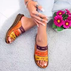 3COLOR - Hoogwaardige orthopedische sandalen met gezondheidszool voor de zomer Low Heels, Wedge Sandals, Summer Sandals, Simple Sandals, Shoes Sandals, Summer Shoes, Boho Sandals, Sandal Heels, Sandals Outfit