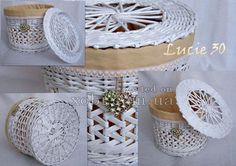 white newspaper basket