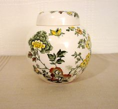 Shop for on Etsy, the place to express your creativity through the buying and selling of handmade and vintage goods. Tea Caddy, Jar, Creative, Handmade, Etsy, Decor, Painted Porcelain, Hand Made, Decoration