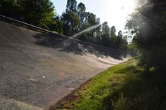 The old banked circuit at Monza. Read our travel guide to the 2014 Italian Grand Prix here: http://f1destinations.com/travel-guides/italian-f1-grand-prix-guide/