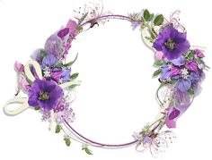 Purple Heart Frames   Gallery Frames Purple Flower Round…