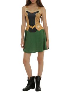You'll be up to no good in this Loki costume dress!
