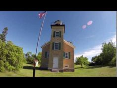 Take a tour of the Ontonagon Lighthouse on the shores of Lake Superior. Local Attractions, Lake Superior, Lighthouses, Old Things, Spring Summer, Tours, Mountains, House Styles, Lighthouse