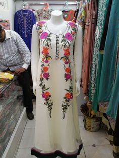 pk chiffone ari machine embroidery frock grip trouser chiffone dupata with piping hole sale 3500pkr