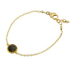 The Twist Collection represents glamorous jewels handcrafted by using classical twisted gold thread technique. The collection is a true ode to craftsmanship, with stylish and delicate pieces embellished by sapphire and corundum set by Italian artisans.A gorgeous Labradorite takes center stage in a hancrafted bezel setting that joins a tiny chain. This delicate and feminine 14K gold filled bracelet is perfect for stacking or stunning on its own. Handmade in Italy with love.