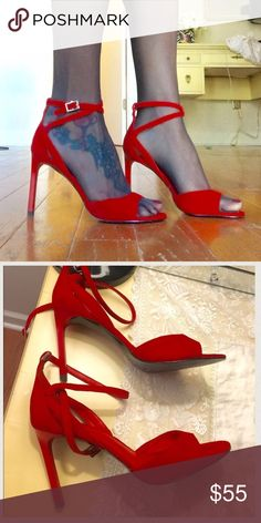 Red Pedro Italian heels Very good condition, heels 3,8 , very comfortable, fit on 6,5-7 Pedro Shoes Heels