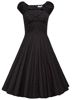 216e1855a6d8 MUXXN Women s 1950s Style Vintage Swing Party Dress (M