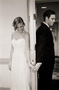 photography idea, holding hands around a door, pre-ceremony