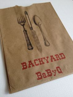 75 Backyard Baby Q Silverware Pouches Baby Shower by LeilaAndLace, $37.50- A backyard Baby-q?!?! Could that be any more fun or adorable?!?! I think not!