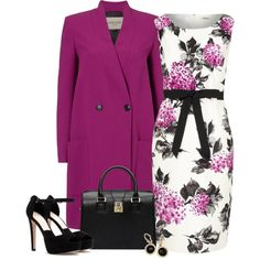 """""""BLACK, WHITE AND A COLOR"""" by randikayt on Polyvore"""