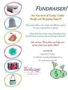 Thirty-One Fundraiser Flyer - Nadine Mackenzie - Pinsit Thirty One Fall, Thirty One Party, Thirty One Gifts, Fundraising Letter, Fundraising Ideas, Gods Strength, Thirty One Business, Thirty One Consultant, 31 Bags