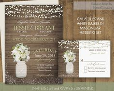 Western Wedding Invitations Set Sunflower Fall Wedding Invite RSVP