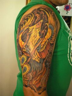 Phoenix half sleeve